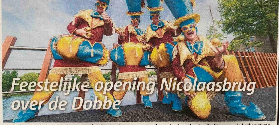 Feestelijke opening nicolaas brug dobbe