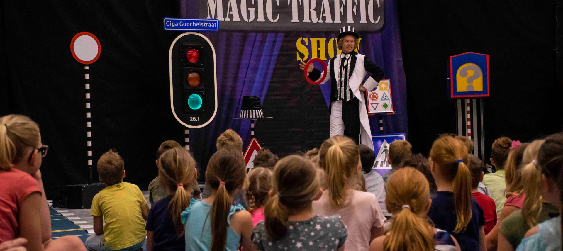 voorstelling verkeer thema show traffic