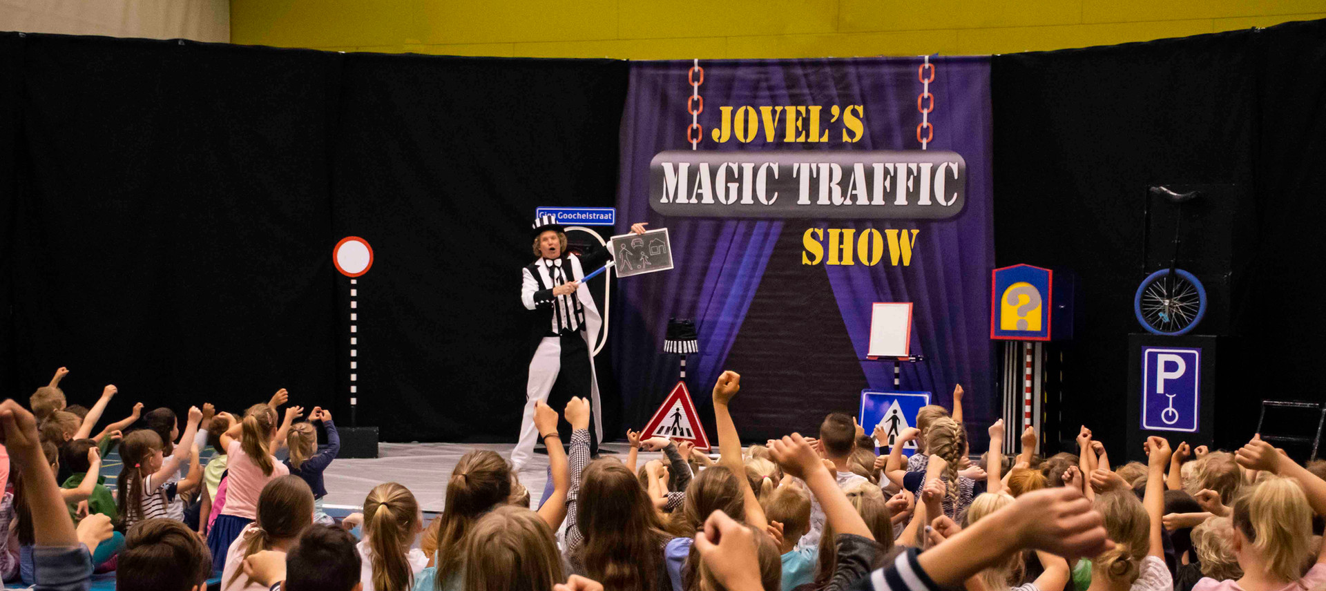 voorstelling verkeer magic traffic show