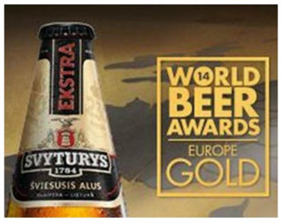 Svyturys Ekstra lager wins GOLD in the 2014 World Beer Awards Europe