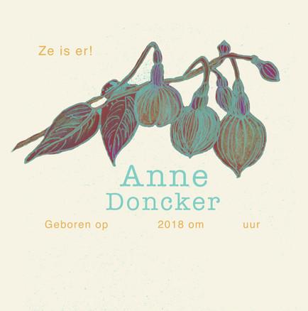 Geboortekaartje voor Anne