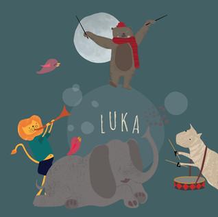 Geboortekaartje voor Luka