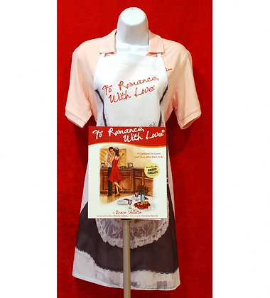 Romance Cookbook with Apron for Her