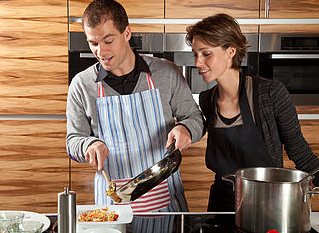Did you know that cooking together is actually healthy for a relationship?