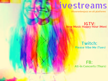 Livestream Schedule!