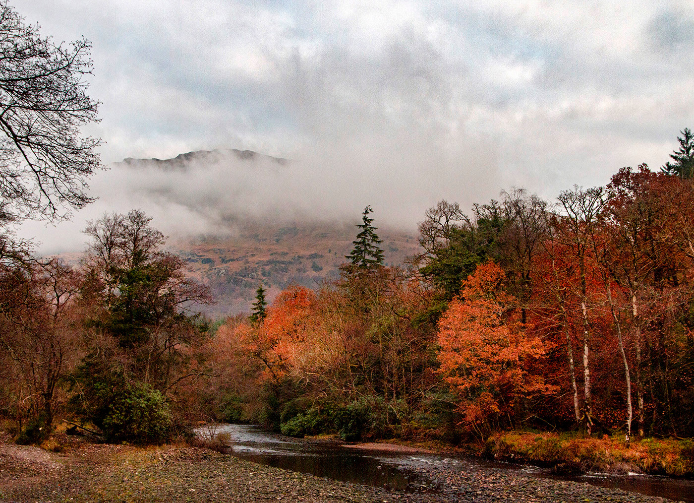 PDI - river eck in autumn by f doherty (8 marks)