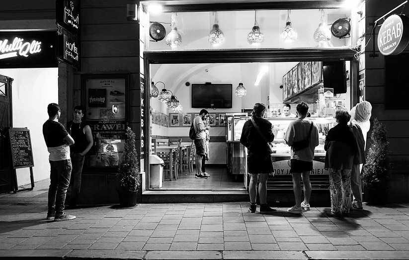 MONO - Night time in Krakow  by G Cassidy (9 marks)
