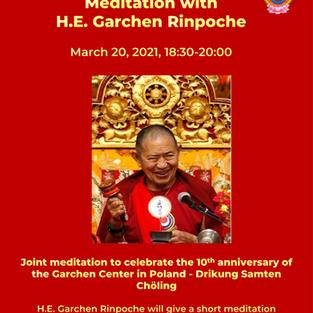 Meditation with H.E. Garchen Rinpoche