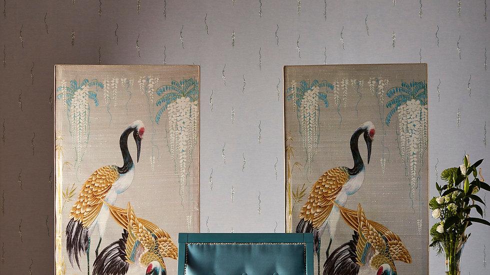 Wisteria Cranes - Freestanding Acoustic Panel