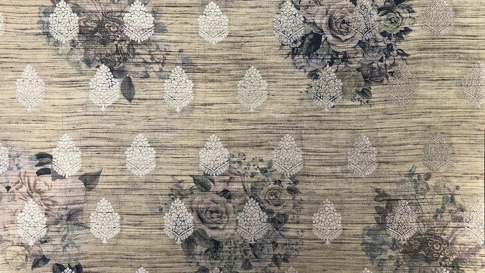 Leaf Palace - Handloom Silk Fabric