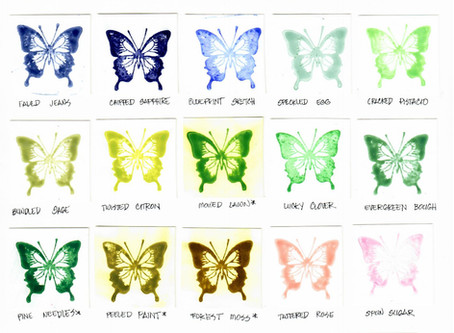 Distress Oxide Swatches on Glossy Photo Paper