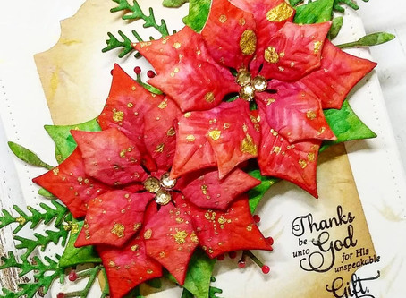 Making Poinsettias from paper napkins