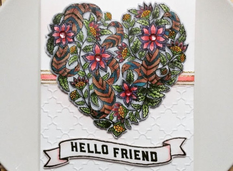 """Hello Friend"" Textured Card Design"