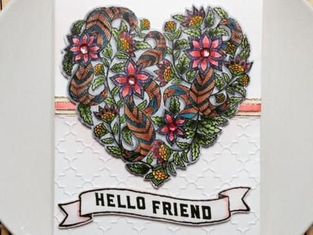 """""""Hello Friend"""" Textured Card Design"""
