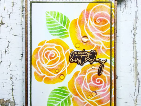 Stenciling Distress Oxides on Glossy Photo Paper
