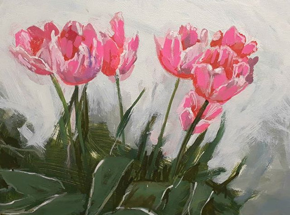 _Tulips in late afternoon_
