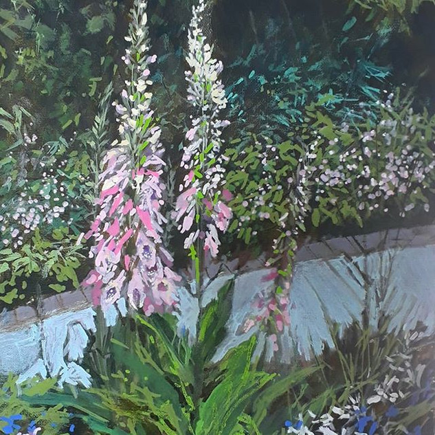 """""""Foxgloves with London Pride""""."""