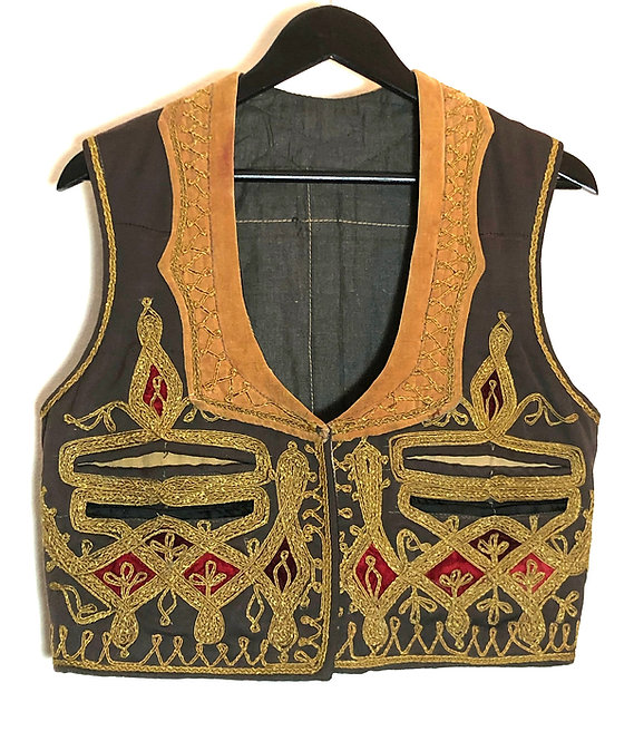 Jimi Hendrix Style Antique Turkish Embroidered Vest