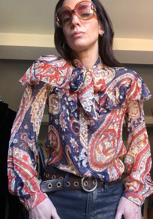 Etro Preloved Silk Paisley Blouse