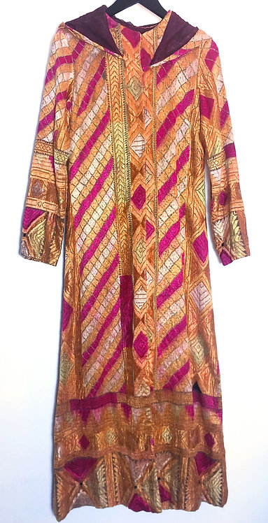 Fully Embroidered Hooded Coat from 1970's