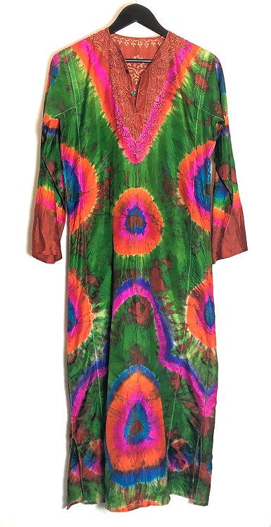 Silk Tie Dye Caftan from the 1970's