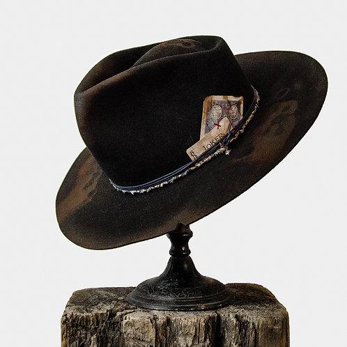 Joker Hat in Black Beaver Felt