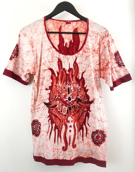 Vintage Batik Fire Demon T-shirt from the 1960's