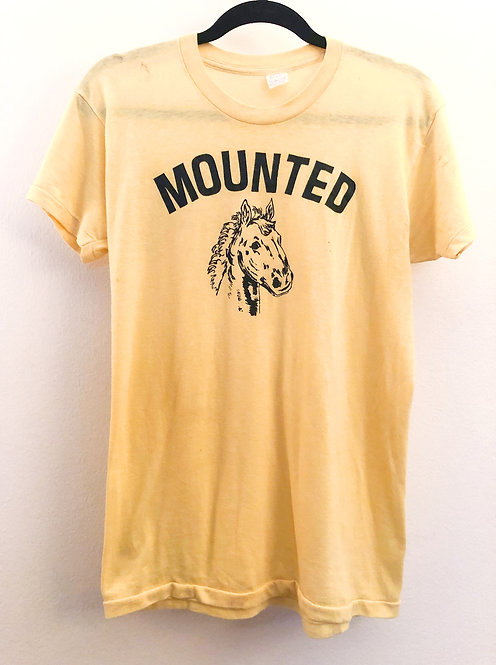Vintage 1970's T-shirt with Horse Graphic