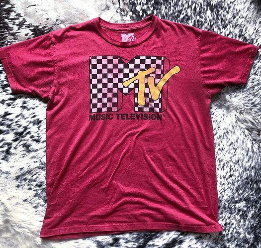 MTV Checkered Logo T-shirt
