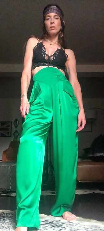 Thierry Mugler Vintage Silk Pants from the 1980's