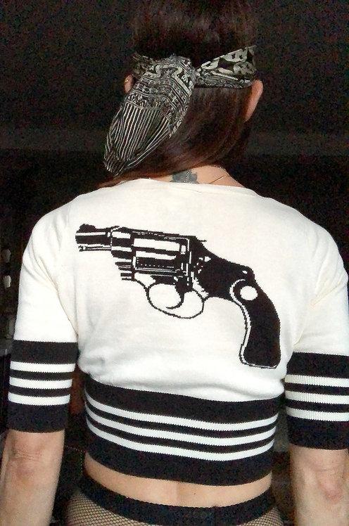 Betsey Johnson Vintage Gun Cardigan