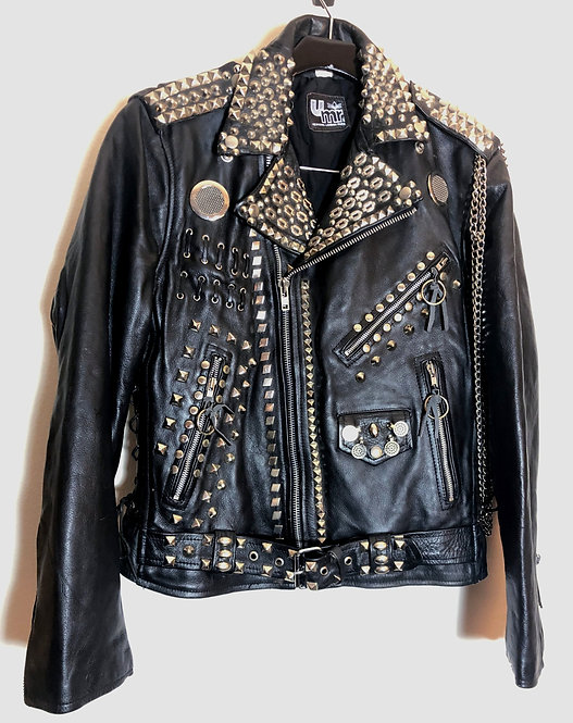 Studded Punk Motorcycle Jacket from 1980's
