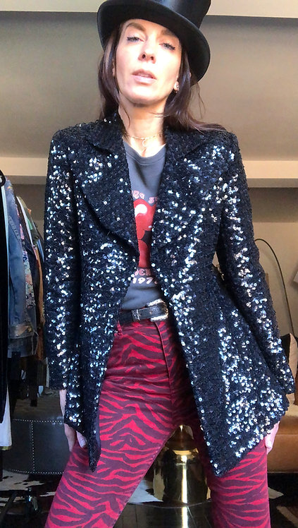 Black Sequined Blazer from the 1970's