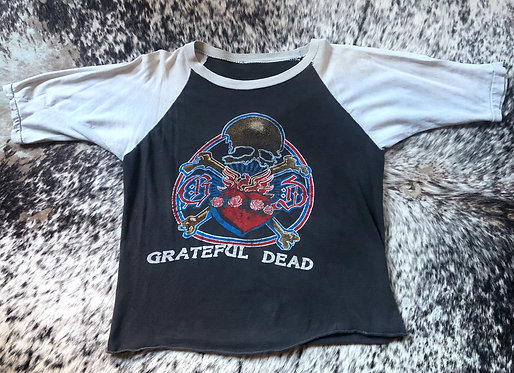 Grateful Dead Raglan Sleeve T-Shirt from 1970's with Rare Graphic