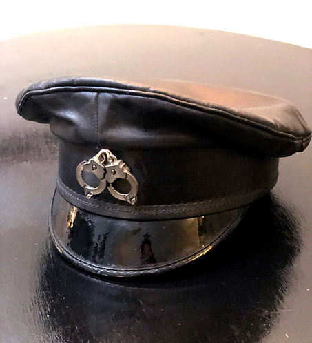 S&M Vintage Leather Biker Cap from 1980's/90's