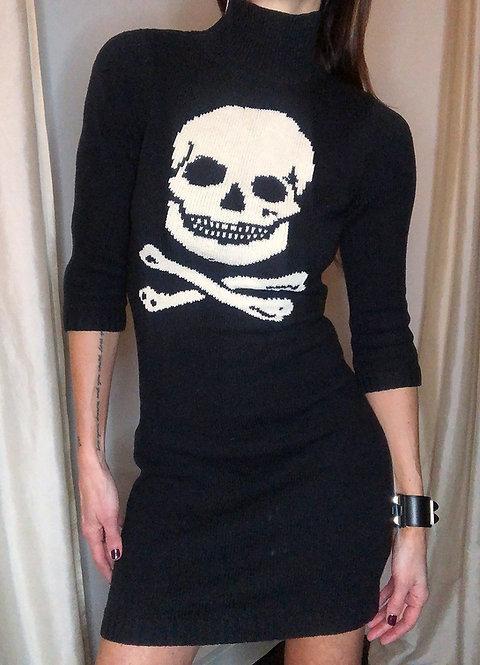 Betsey Johnson Vintage Skull Sweater Dress