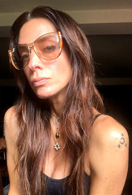 Gucci Vintage Gold Frame Tinted Sunglasses from the 1970's