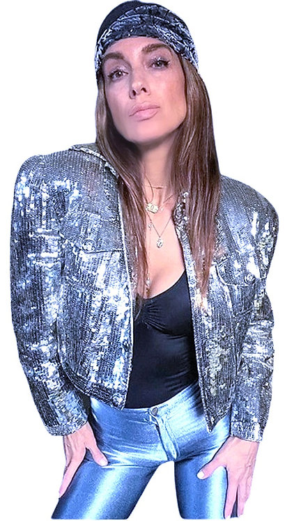 Silver Sequined Jacket from the 1980's/90's