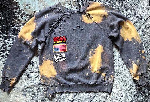 Thrashed Rocker Sweatshirt from 1970's/80's