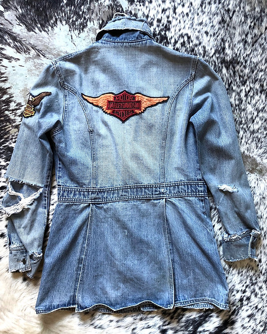 1960's Levi's Denim Jacket with Harley Davidson Patches