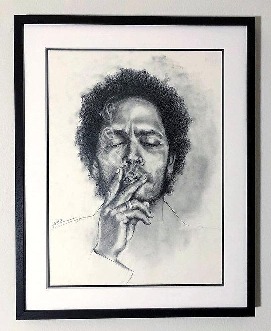 Lenny Kravitz Smoking Weed Portrait