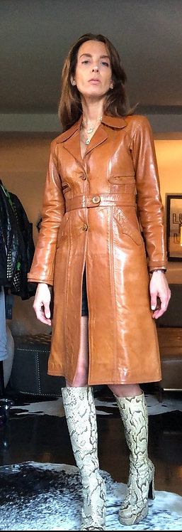 Mango Road Leather Coat from 1970's