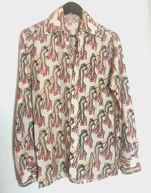 Men's Hot Legs Printed Shirt from 1970's London