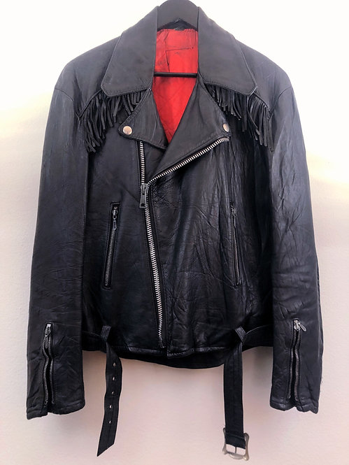 Motorcycle Jacket with Fringe from the 1970's