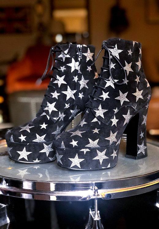 Saint Laurent Candy Suede Platform Boots