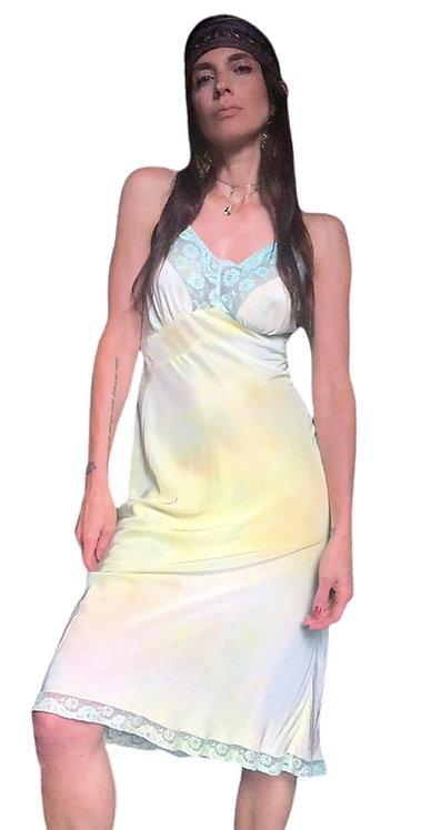 Silk Tie Dye Slip Dress from the 1940's