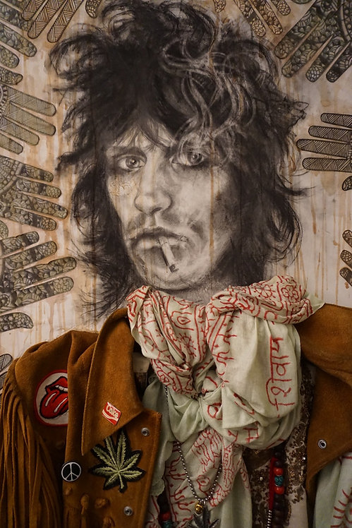 Keith Richards Mixed Media Portrait