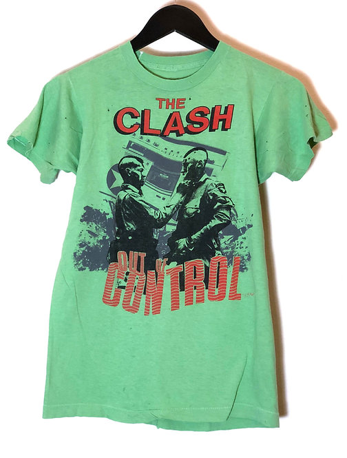 The Clash Out Of Control Tour Green T-shirt From 1984