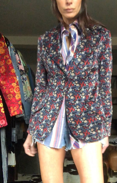 Levi's Floral Velvet Blazer from the 1970's