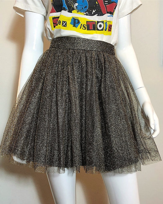 GOLD LUREX & TULLE MINI SKIRT FROM 1980's/90's